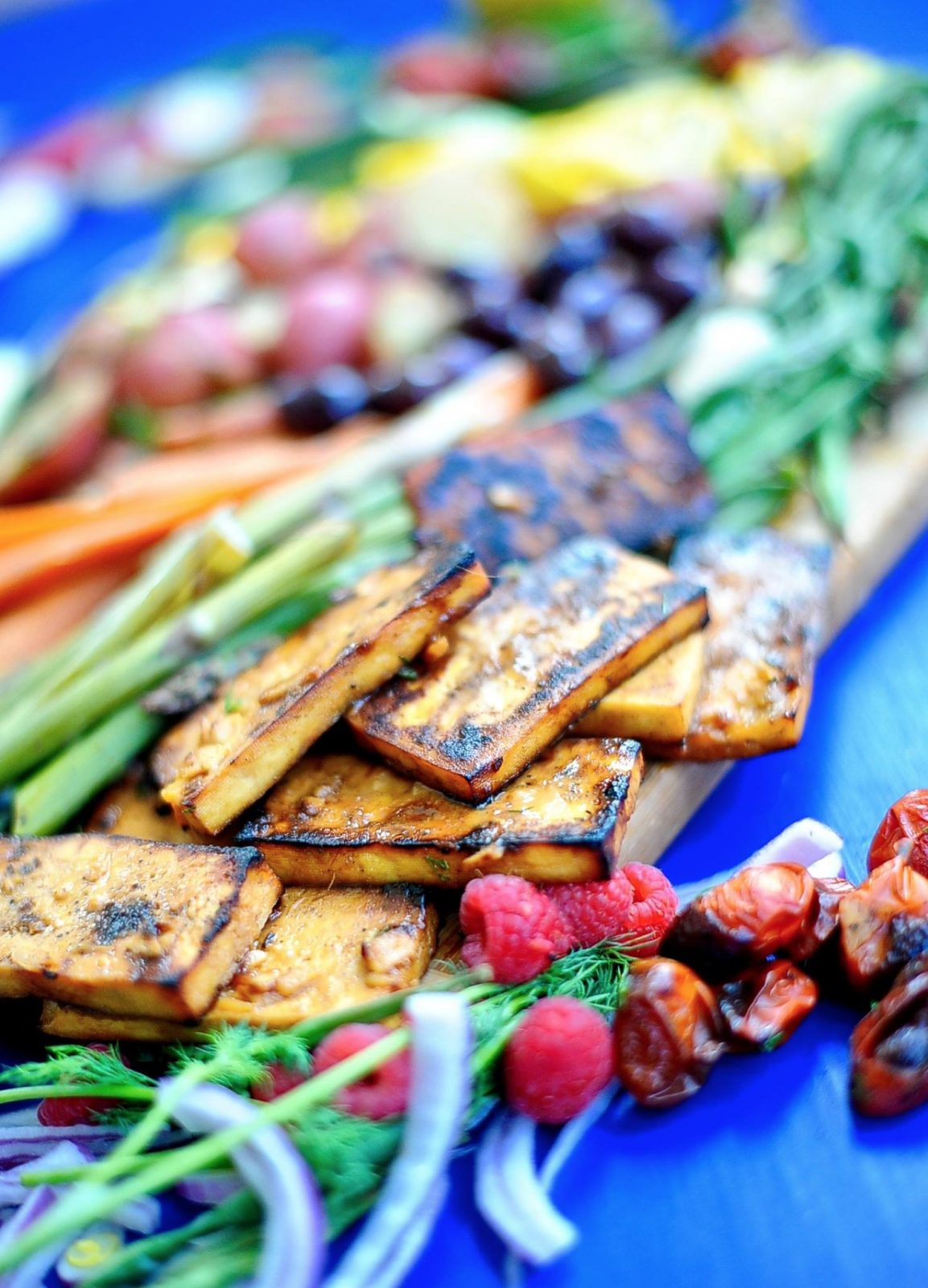 Vegan Nicoise Salad with Grilled Orange Tofu