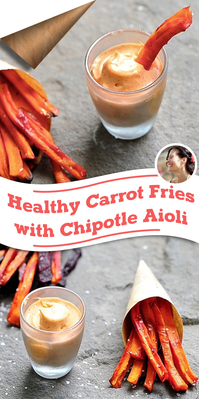 Carrot Fries with Chipotle Aioli Pinterest