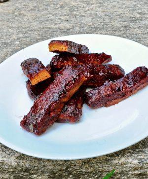 Bbq Vegan Seitan Ribs in Sticky Tamarind Bbq Sauce