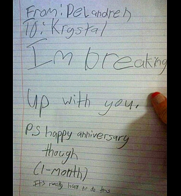 The 8 Funniest Kid Break Up Letters They Really Have A