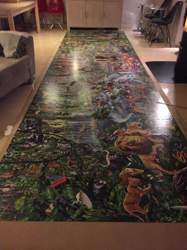 This Girl Just Finished The Worlds Largest Jigsaw Puzzle