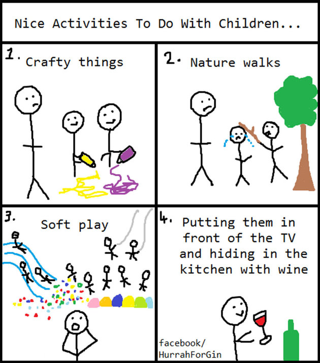 This Moms Hilarious Stick Figure Cartoons Highlight The