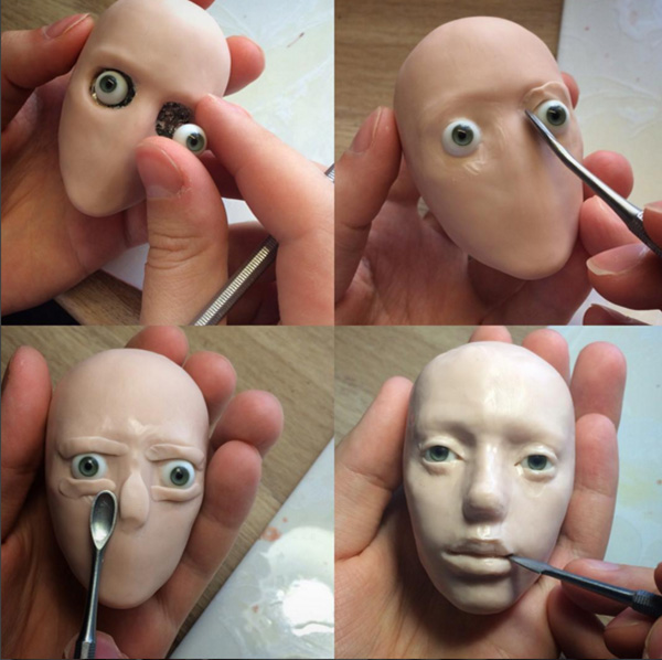 he makes dolls that