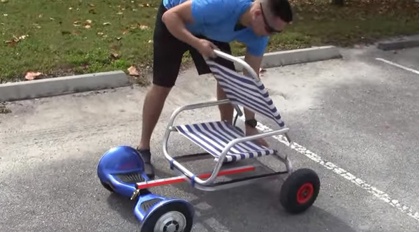He Attaches A Lawn Chair To A Hoverboard The Result Is