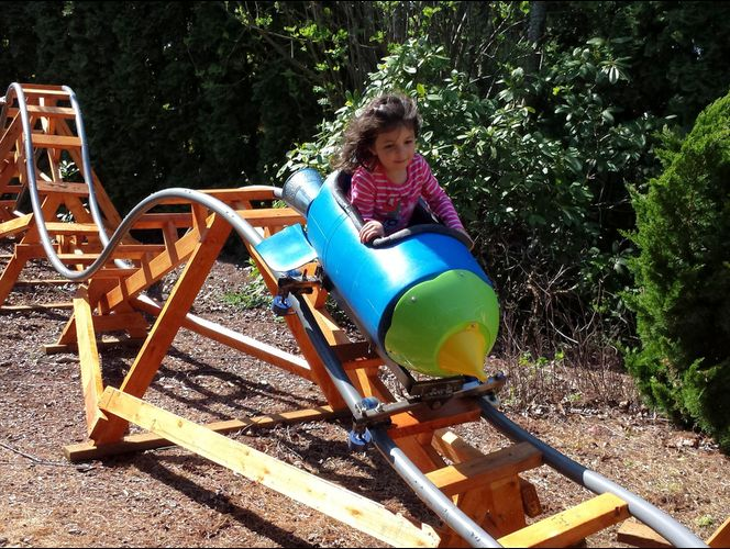 Retired Grandpa Uses Free Time To Build Backyard Roller Coasters For His 6 Grandkids