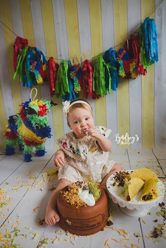 Mom Gives Daughter A Taco Smash Instead Of Cake And Its So Adorable
