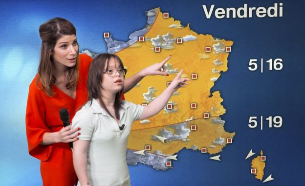 girl with down syndrome weather france