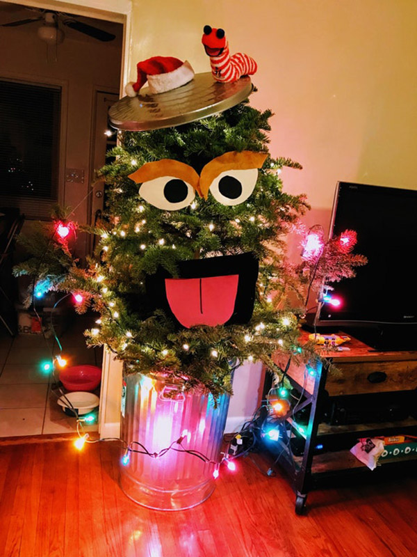 Couple Turns Ugly Christmas Tree Into Oscarmas