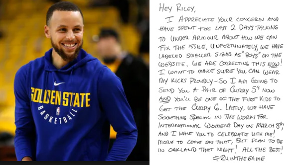 Steph Curry Responds To Girls Letter About Why His Shoes