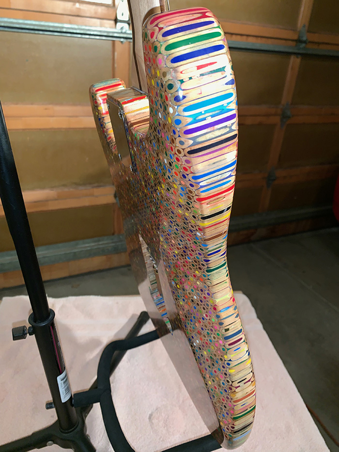 This Guy Built An Electric Guitar Out Of 1200 Colored Pencils