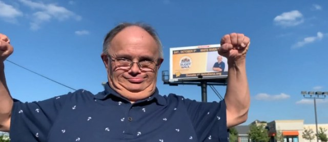 man down syndrome on billboard