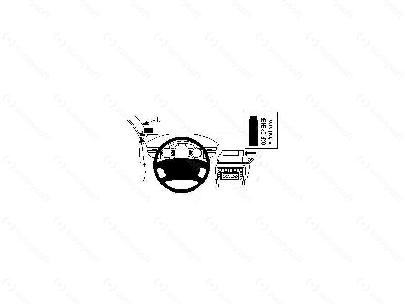 Brodit ProClip montážní konzole pro Citroen C5 III 2008-17