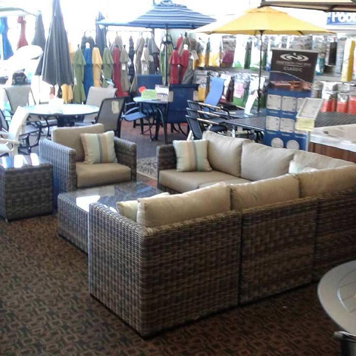 patio furniture sets and umbrellas
