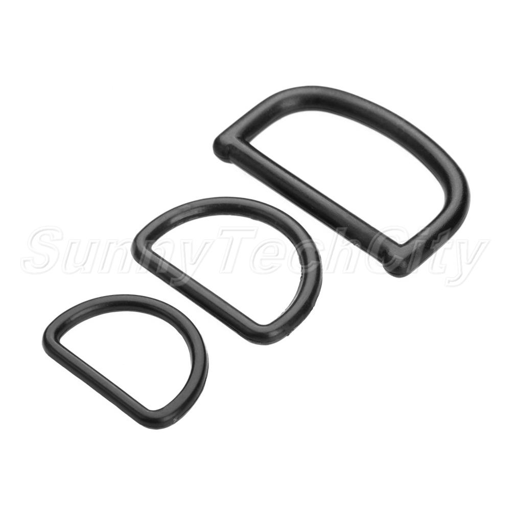 Plastik D Ring Schnallen Webbing schwarz für Rucksack