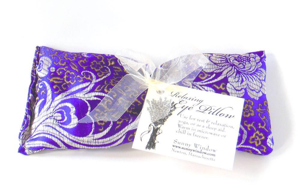 lavender eye pillow amethyst by sunny window 16 00 in lavender