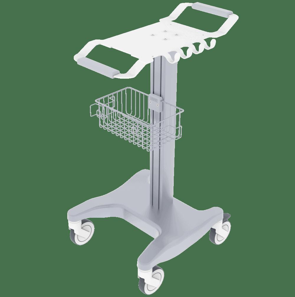 Wide Wheel ECG Cart, ECG Trolley
