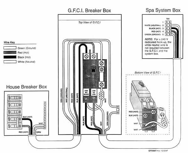 Sun Ray Hot Tubs & Patio Wiring Diagram