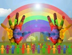 Diversity Silhouettes Rainbow Hands  - geralt / Pixabay