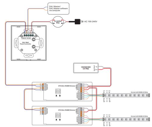 small resolution of rgbw dali dt6 dt8 touch panel controller sr 2300tp rgbw wiring diagram