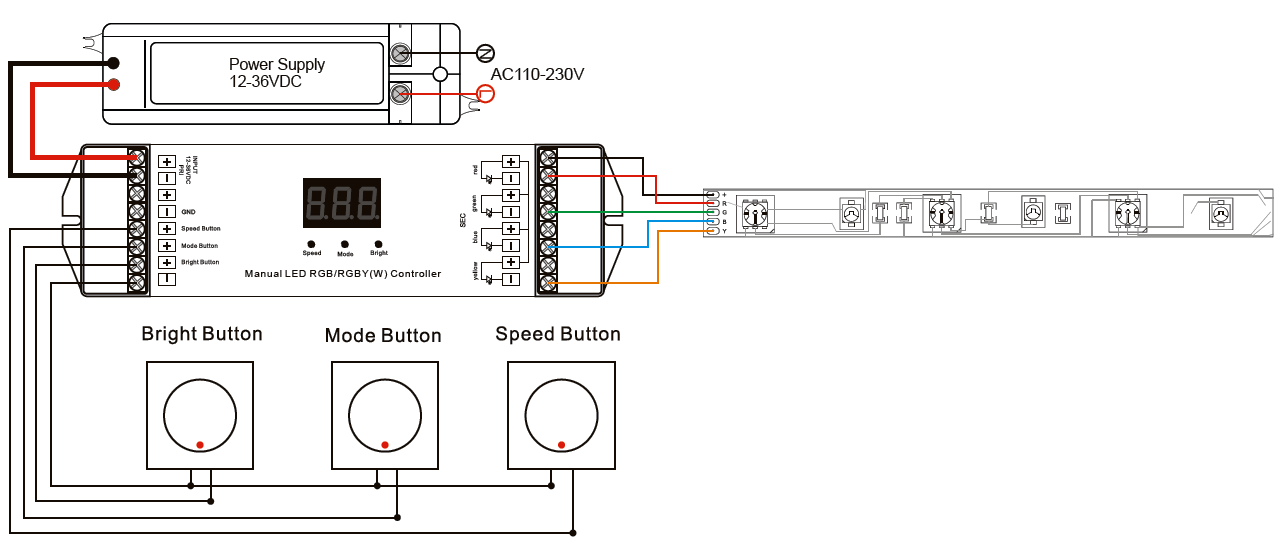 wiring diagram for led driver