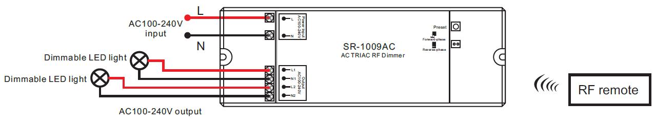 push dim wiring diagram boss plow harness 2 channel ac triac led dimmer switch with rf control sr-1009ac