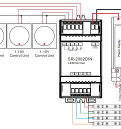 din rail mounted 4 channel 0 1 10v led dimmer switch sr2002din [ 1172 x 705 Pixel ]