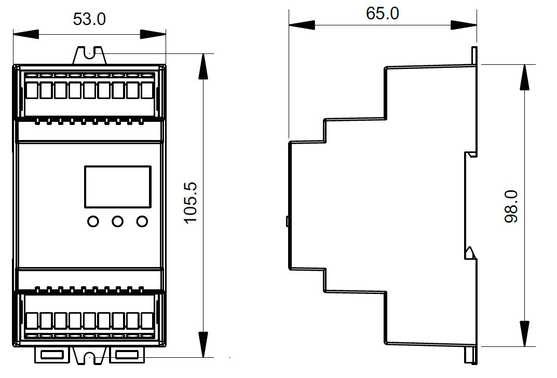 Din Rail Mounted DMX512 Decoder SR-2102DIN