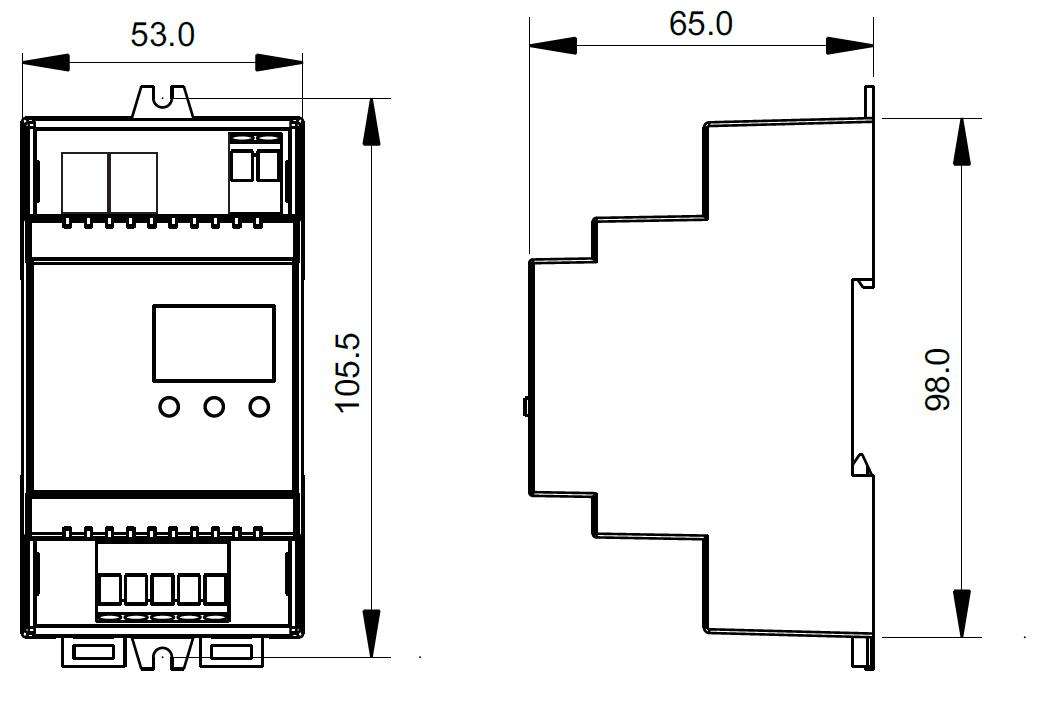 Din Rail Mounted DMX512 Decoder SR-2102RJ45-DIN