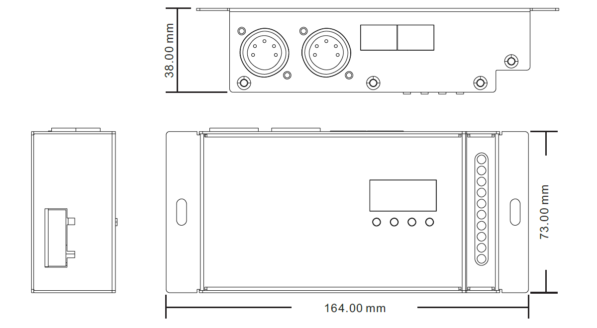 Master Slave Modes Switchable DMX512 & RDM Controller SR