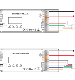 wiring diagram constant voltage 4 channels dmx rdm controller with master  [ 1706 x 752 Pixel ]