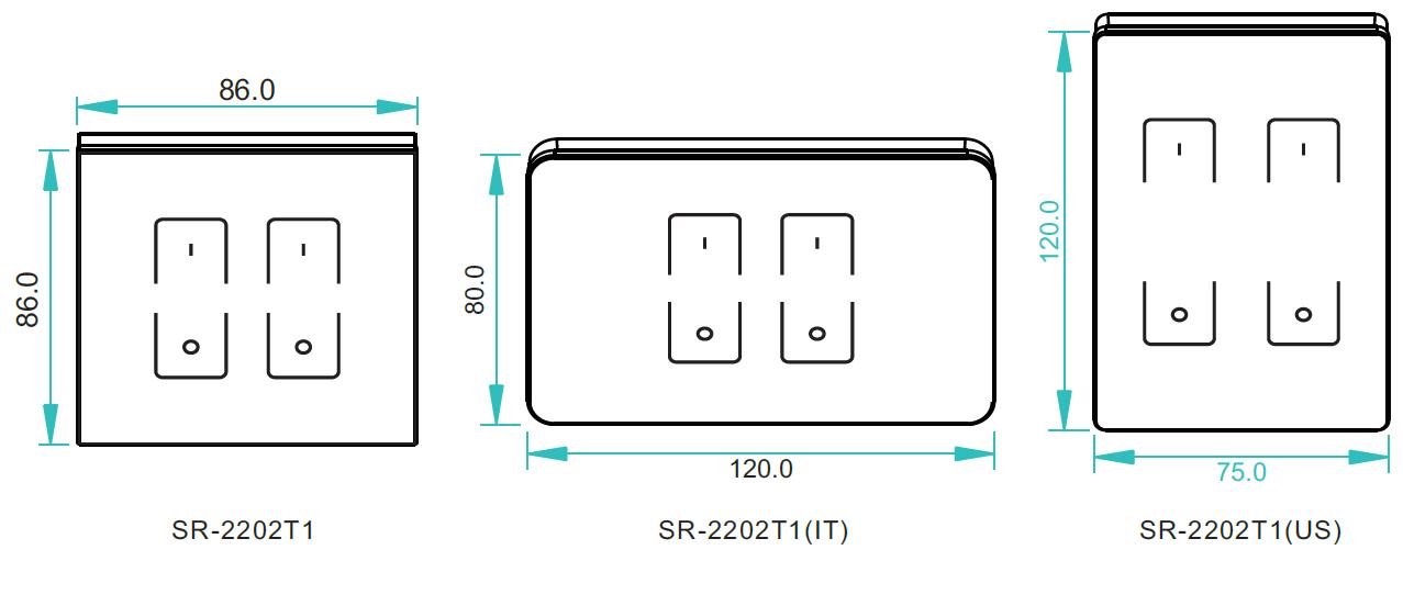 Full Touch DMX512 Dimmer Master SR-2202T1