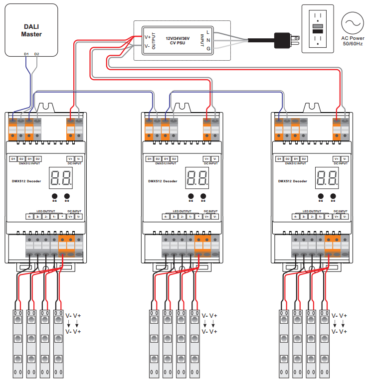 dual switch light wiring diagram square d homeline load center din rail mounted dali dimmer sr-2302din