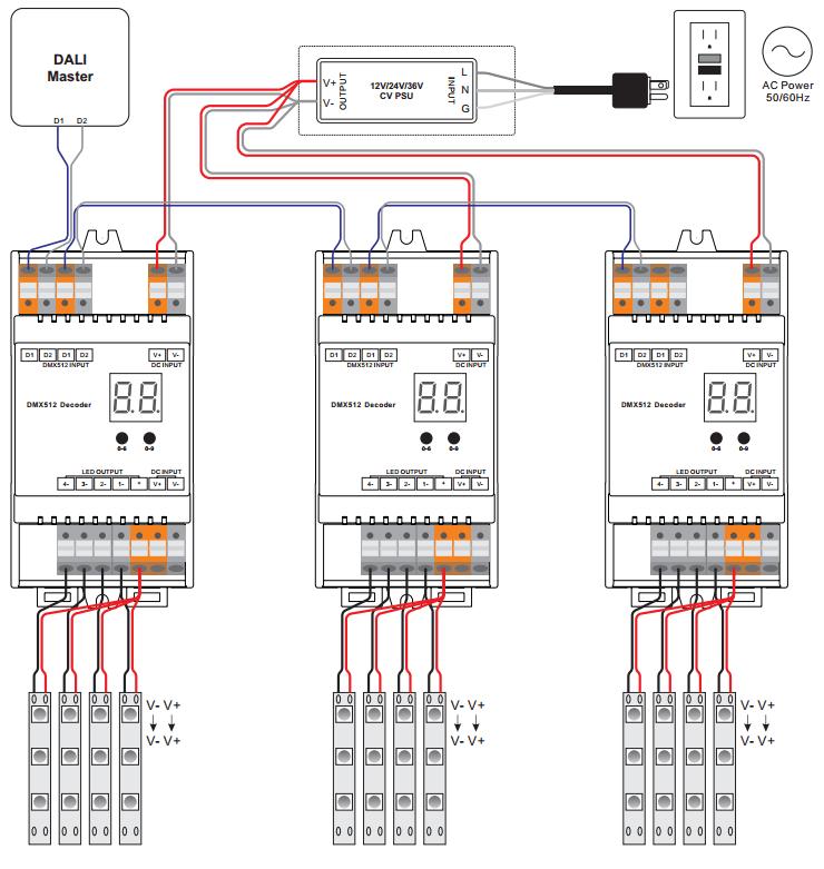 dual light switch wiring diagram mov din rail mounted dali dimmer sr-2302din
