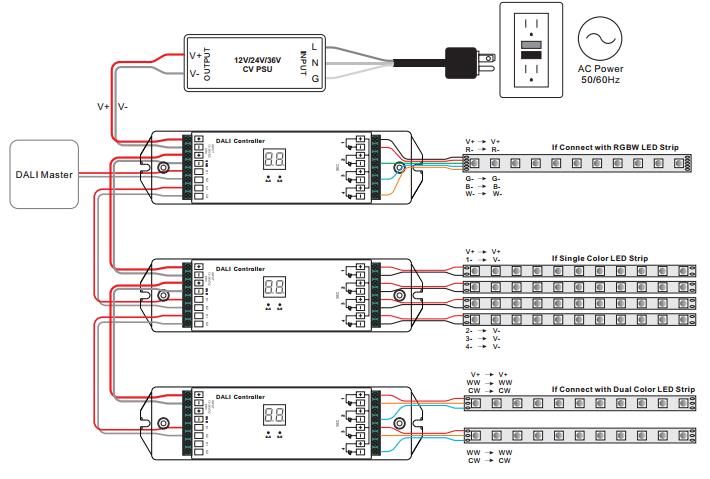 Ansell Lighting Wiring Diagram Constant Voltage Dali Dimmer Sr 2303b