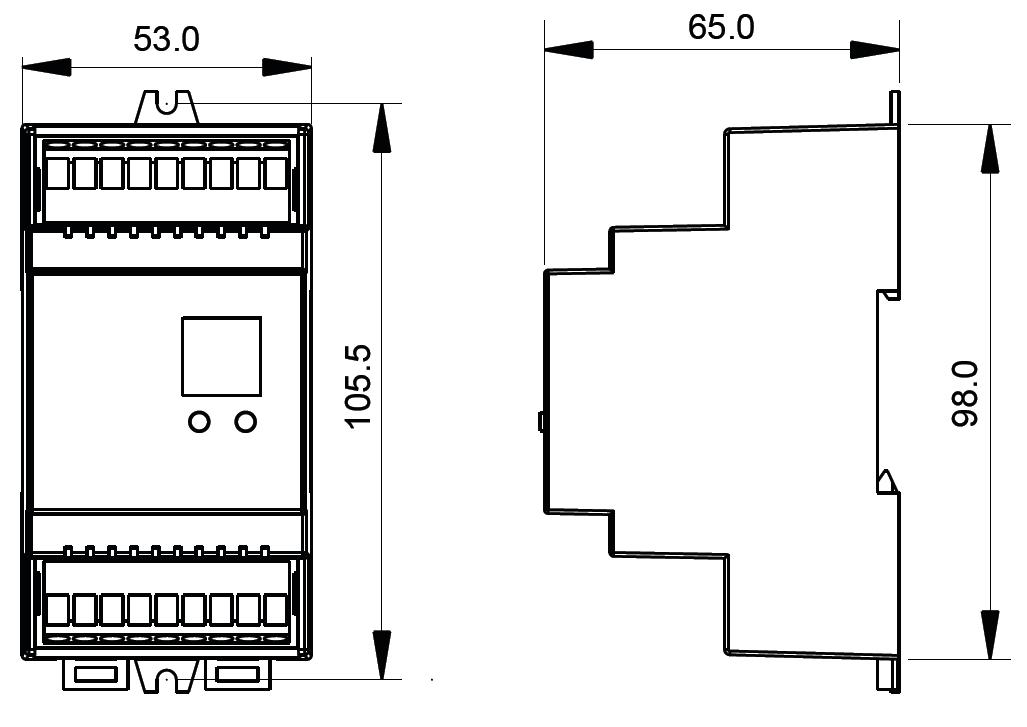 Din Rail Mounted DALI Controller SR-2303DIN