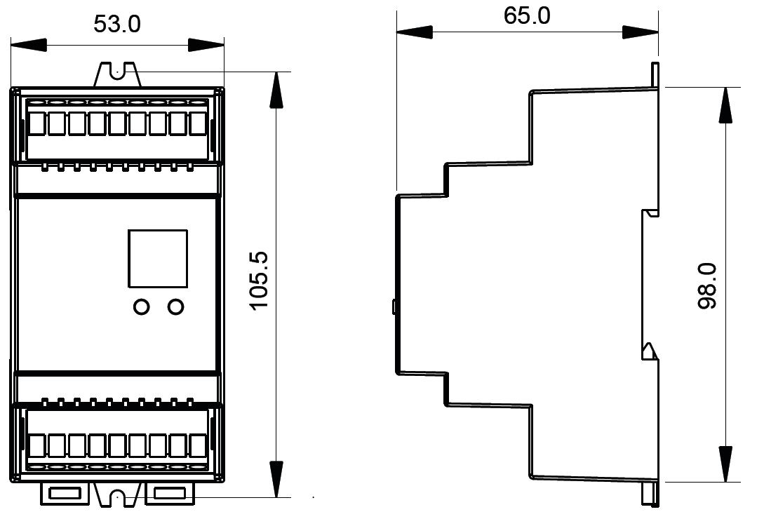 Push Button Compatible DALI Dimmer SR-2304DIN