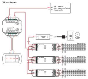 DALI Master Lighting Control Module For DALI Scene SR2400SC