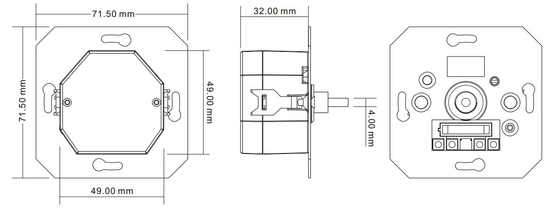 DALI MCU Rotary Dimmer SR-2400RL-NF