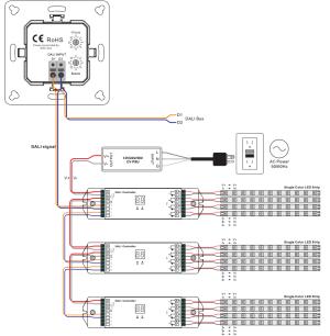 Single Color Group&Scene Control Push Button DALI Panel SR