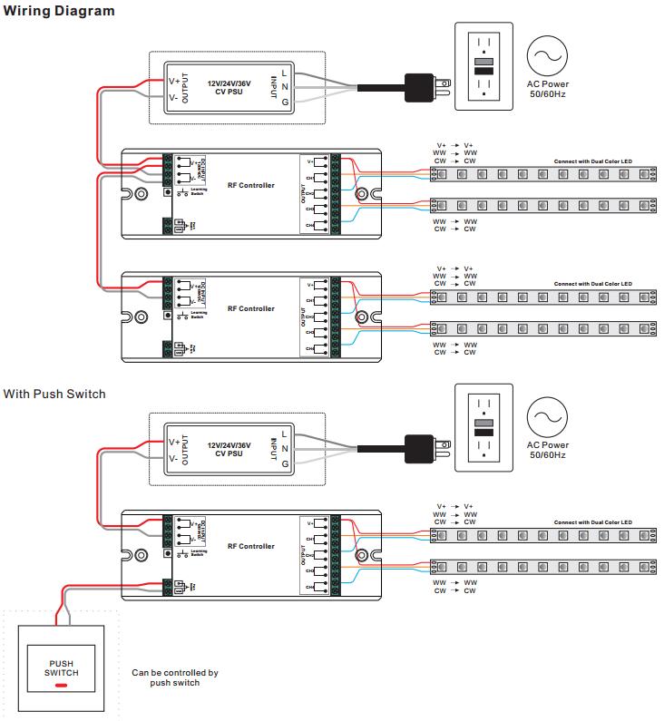 Dual Color RF Controller SR-2501M