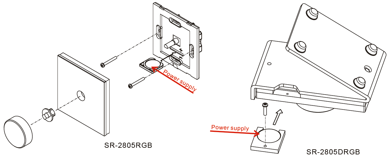 Rotary Knob RF RGB LED Controller SR-2805RGB