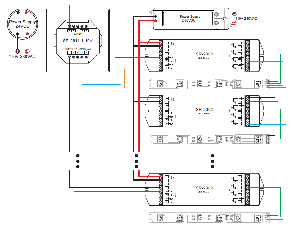 10v Dimmer Wiring Diagram LED Dimmer Wandpanel Steuerung 1 ... on