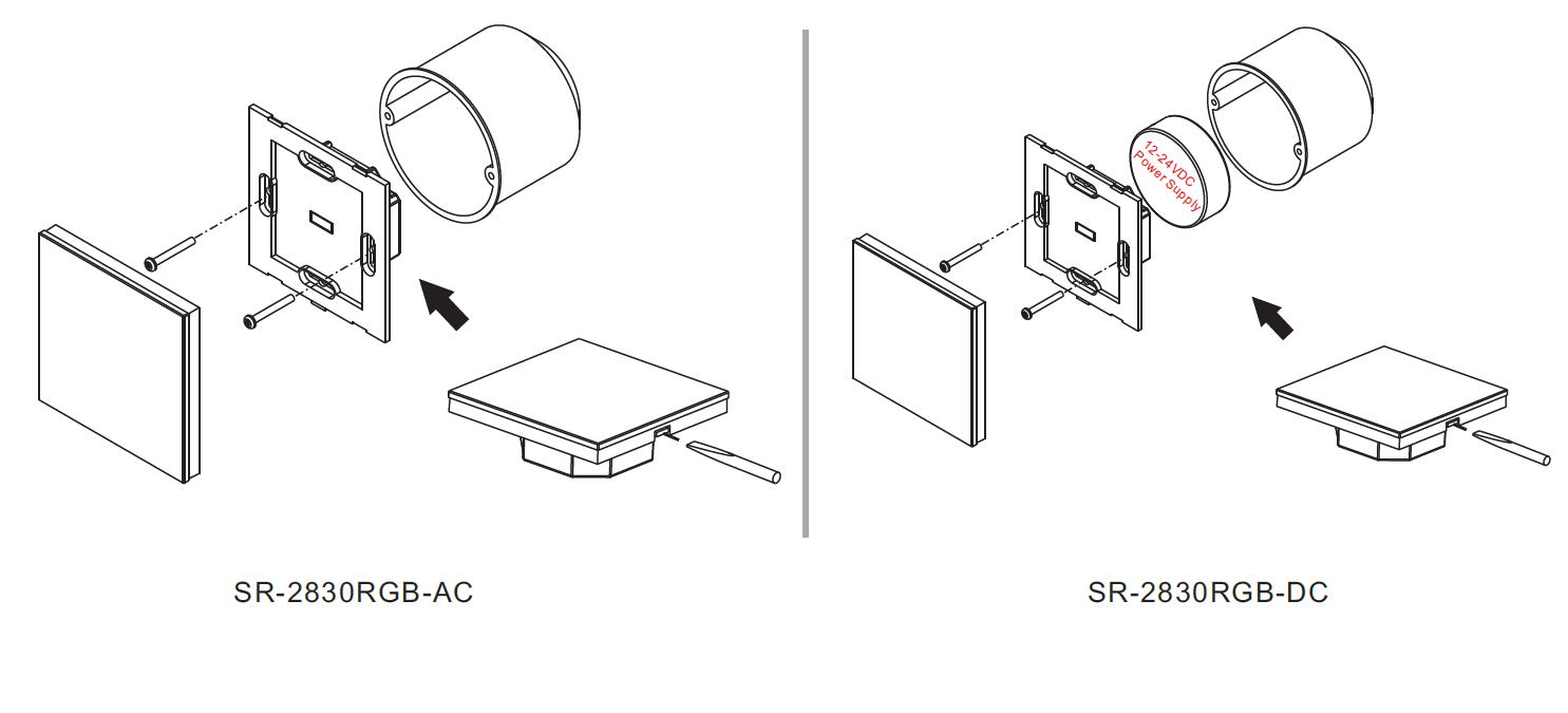 RF&WiFi Full Touch RGB LED Strip Controller SR-2830RGB