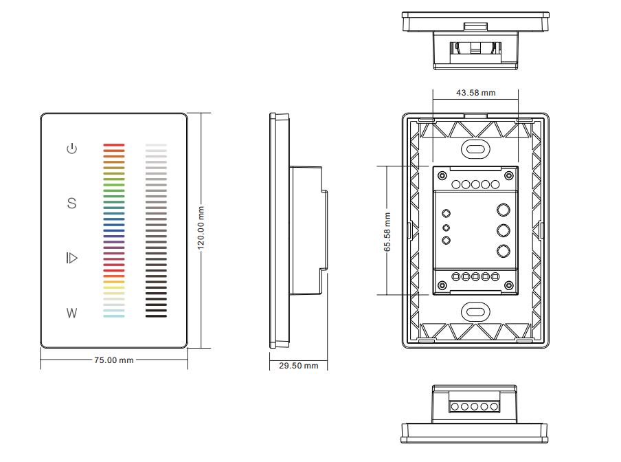 Dual Sliders RGBW DMX LED Controller SR-2834RGBW-DMX