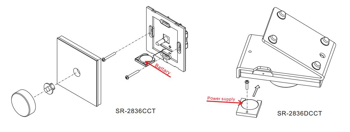 Dual Color Rotary RF LED Controller SR-2836CCT