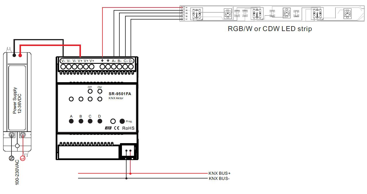 Constant Voltage KNX Dimmer SR-KNX9501FA