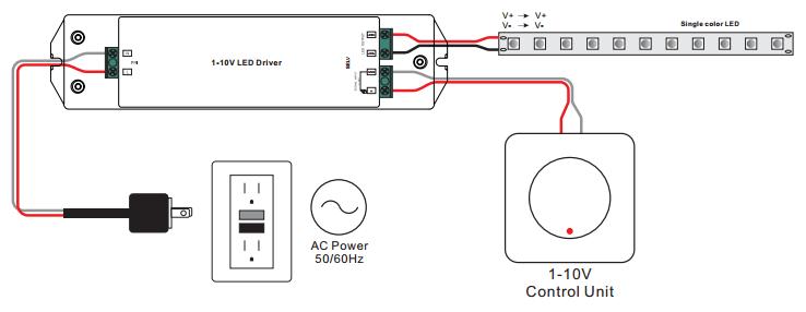 50W Constant Voltage 0/1-10V LED Driver SRP-2007-CV