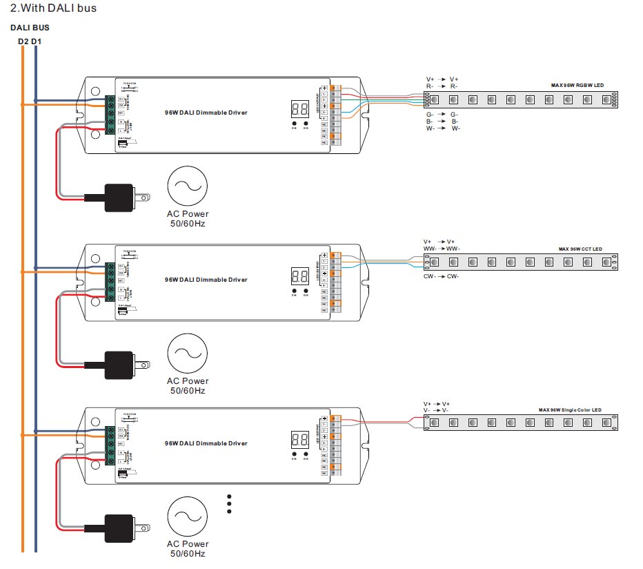 dali led driver wiring diagram a switch for manual e books 4 channels 24vdc constant voltage 96w dimmable srpdali