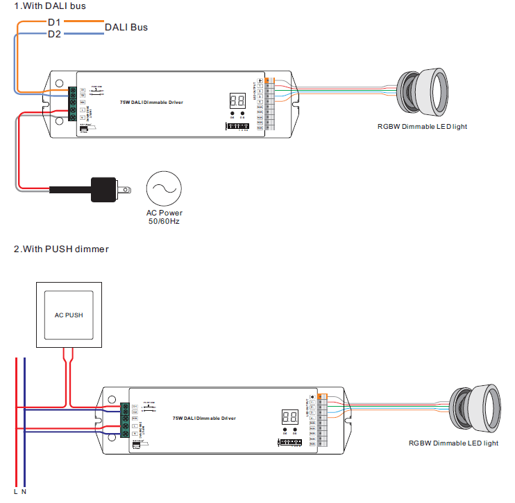 led dimming driver wiring diagram xlr mono jack 4 channels constant current dali 75w dimmable srp-2305-75w-ccf