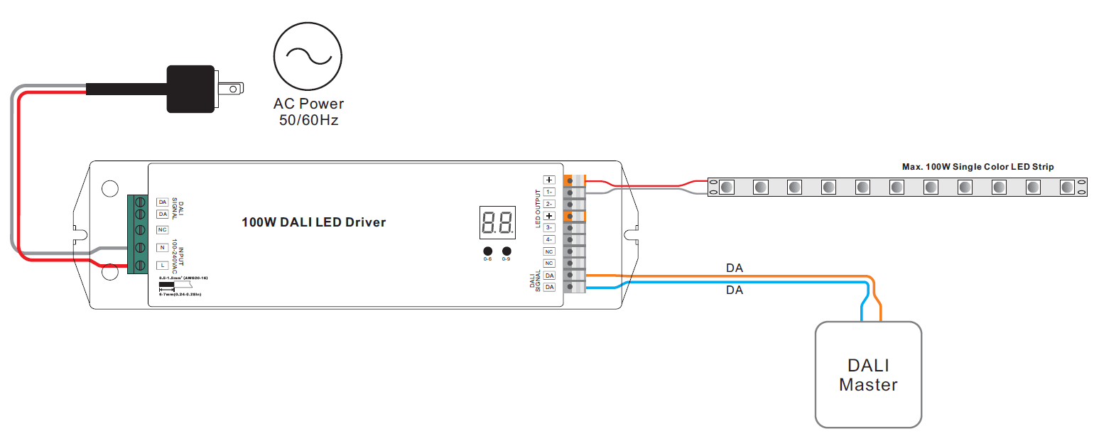 dali led driver wiring diagram gibson sg epiphone for library 2 certified constant voltage 100w dimmable srp